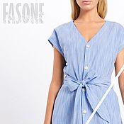 Одежда handmade. Livemaster - original item dresses: Blue dress made of 100% cotton