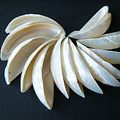 Материалы для творчества handmade. Livemaster - original item Bead connector cut silver shell. Handmade.