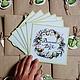 """Свадебные открытки ручной работы. Приглашения на свадьбу """"Яблочная"""". Ferlya. Интернет-магазин Ярмарка Мастеров. Пригласительные, свадебный декор, акварель"""