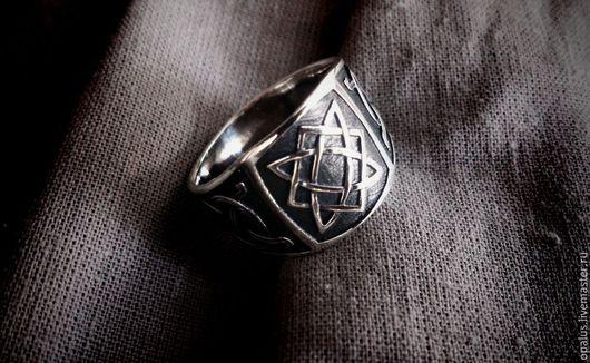 """Украшения для мужчин, ручной работы. Ярмарка Мастеров - ручная работа. Купить Кольцо """"Звезда удачи"""". Handmade. Мужское кольцо"""