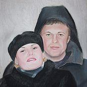 Картины и панно ручной работы. Ярмарка Мастеров - ручная работа Портрет родителей. Handmade.