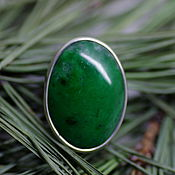Украшения handmade. Livemaster - original item Ring with jade