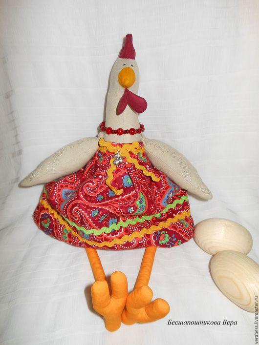 Куклы Тильды ручной работы. Ярмарка Мастеров - ручная работа. Купить Курочка Тильда (бежево-красная). Handmade. Игрушка