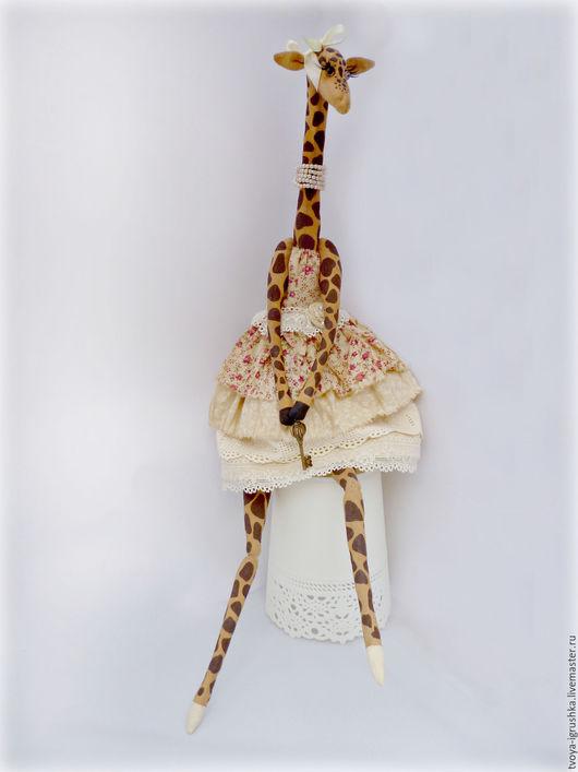 Игрушки животные, ручной работы. Ярмарка Мастеров - ручная работа. Купить Жирафа Лулу. Handmade. Бежевый, шебби-шик, текстиль