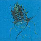 Картины и панно ручной работы. Ярмарка Мастеров - ручная работа Голубой дракон. Handmade.