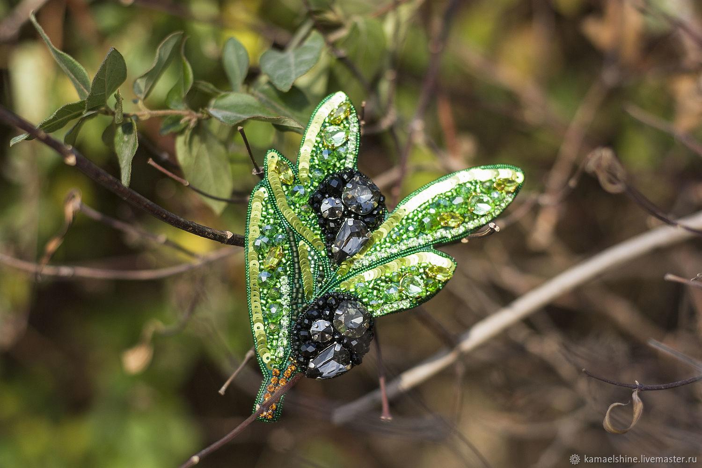 Brooch 'Green olive branch', leaf brooch as a gift, Brooches, Novorossiysk,  Фото №1
