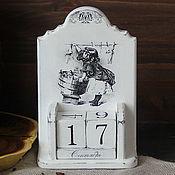 Канцелярские товары handmade. Livemaster - original item Perpetual calendar shabby chic monochrome