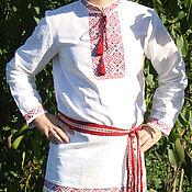 """Русский стиль ручной работы. Ярмарка Мастеров - ручная работа Вышиванка мужская """"Добромир"""". Handmade."""