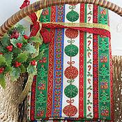 Материалы для творчества ручной работы. Ярмарка Мастеров - ручная работа Новогодняя ткань фигурки-полосы. Handmade.