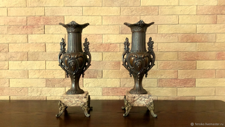 Винтаж: 100 ЛЕТ! Великолепные антикварные каминные вазы, Винтажные предметы интерьера, Ессентуки, Фото №1