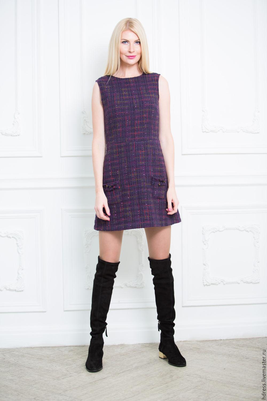 Твидовое платье от шанель