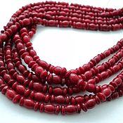 Материалы для творчества handmade. Livemaster - original item Coral beads curly 11mm, strand 19pcs. Handmade.