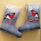"""Обувь ручной работы. Ярмарка Мастеров - ручная работа Валенки """"Снегири ,рябина"""". Handmade."""