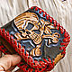 Leather wallet-Merry skull with rum. Wallets. schwanzchen. Online shopping on My Livemaster.  Фото №2