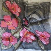 Винтаж handmade. Livemaster - original item Handkerchief Flowers, silk, vintage And. Handmade.