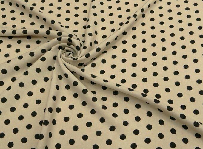 Ткань штапель горох  2  вида  НА 10, Ткани, Москва,  Фото №1