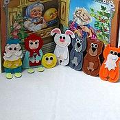 """Куклы и игрушки ручной работы. Ярмарка Мастеров - ручная работа Сказка из фетра """"Колобок"""". Handmade."""