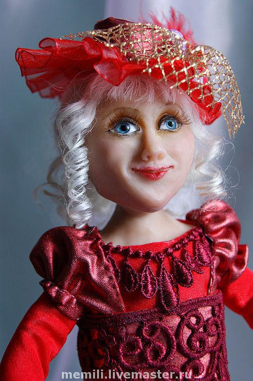 """Коллекционные куклы ручной работы. Ярмарка Мастеров - ручная работа. Купить Кукла """"Модница"""". Handmade. Коллекционная кукла, белые волосы"""
