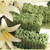"""Косметика ручной работы. Ярмарка Мастеров - ручная работа """"Травяной чай"""" с дикой мятой и бергамотом, натуральное мыло-скраб. Handmade."""