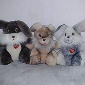 """Куклы и игрушки ручной работы. Ярмарка Мастеров - ручная работа Игрушки из меха """"Братец кролик""""- меховая игрушка зайчик, заяц, кролик. Handmade."""