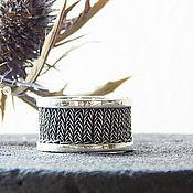 Кольца ручной работы. Ярмарка Мастеров - ручная работа Кольца: серебряное кольцо с вязаной вставкой. Кольцо серебро. Handmade.