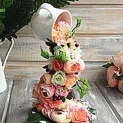 Цветы и флористика ручной работы. Ярмарка Мастеров - ручная работа Интерьерная чашечка Персиковая. Handmade.