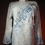 Одежда ручной работы. Ярмарка Мастеров - ручная работа Туника-платье валяная The Blue Rose. Handmade.
