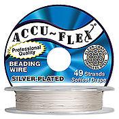 Материалы для творчества ручной работы. Ярмарка Мастеров - ручная работа 0,48 мм, тросик ювелирный Accu-Flex, silver-plated. Handmade.