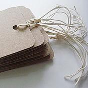 Этикетки ручной работы. Ярмарка Мастеров - ручная работа Бирки из крафт-бумаги 6,5х11,5 см. Handmade.