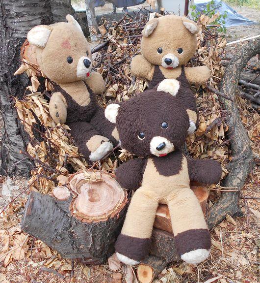Винтажные куклы и игрушки. Ярмарка Мастеров - ручная работа. Купить Три медведя. Медведь винтажный. Старые игрушки. Винтаж.. Handmade.
