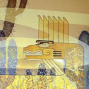 Картины и панно ручной работы. Ярмарка Мастеров - ручная работа роспись стен Ацтекское Золото. Handmade.