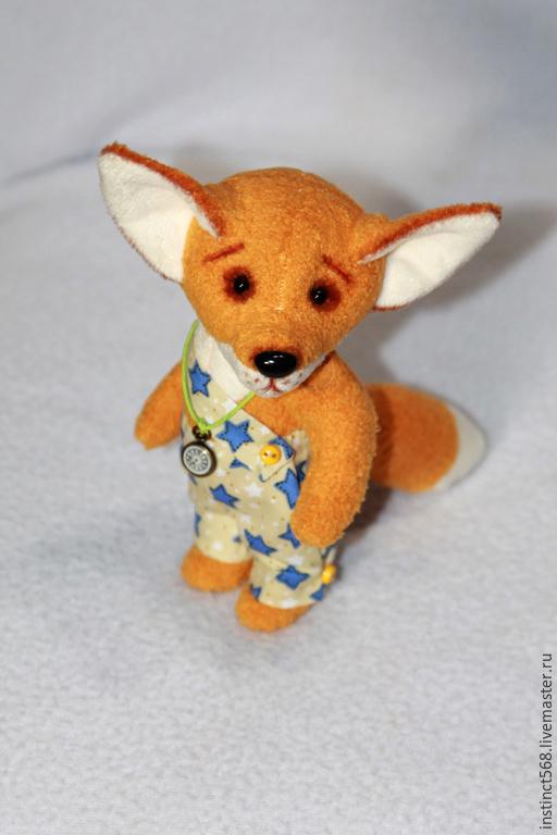 Игрушки животные, ручной работы. Ярмарка Мастеров - ручная работа. Купить Fox. Handmade. Рыжий, игрушка в подарок, холофайбер