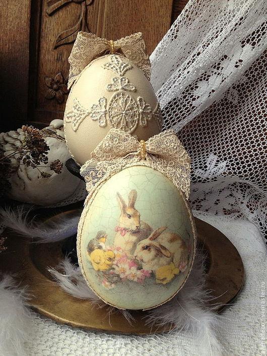 """Подарки на Пасху ручной работы. Ярмарка Мастеров - ручная работа. Купить """"Пасхальные кролики"""" интерьерное Пасхальное украшение. Handmade. Пасха"""