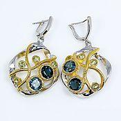 Украшения handmade. Livemaster - original item London Topaz and peridot earrings.. Handmade.