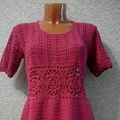 Одежда handmade. Livemaster - original item dress with fishnet insert. Handmade.