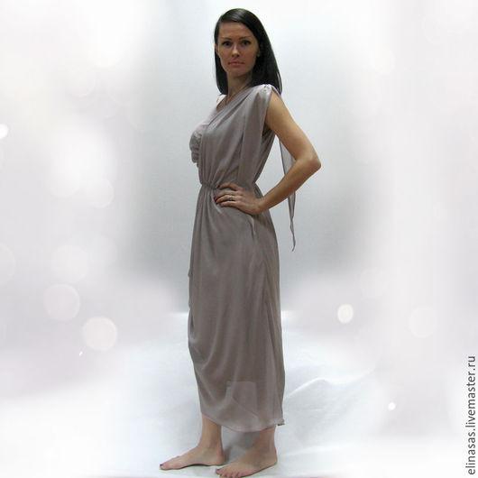 Платья ручной работы. Ярмарка Мастеров - ручная работа. Купить Платье в греческом стиле. Handmade. Серый, море, греческий