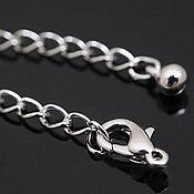 Материалы для творчества handmade. Livemaster - original item Chain extension cord with rhodium lock South Korea (2081). Handmade.