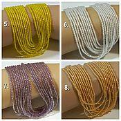 Материалы для творчества handmade. Livemaster - original item Spinel beads 4 colors with a jewelry cut of 2 mm. Thread. Handmade.