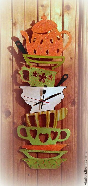 """Часы для дома ручной работы. Ярмарка Мастеров - ручная работа. Купить """"Ежедневный кошмар хозяйки или Гора посуды""""2. Handmade."""