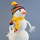 Сказочные персонажи ручной работы. Заказать игрушка вязаная Снеговик Неулыбчивый. Виноградная Овечка (GrapeLamb). Ярмарка Мастеров. Вязаная игрушка