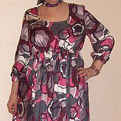 Одежда ручной работы. Ярмарка Мастеров - ручная работа Платье шелковое Миди. Handmade.