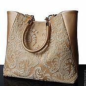 Сумки и аксессуары handmade. Livemaster - original item Gold purse, leather, lace. Handmade.