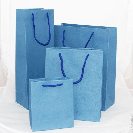 Подарочные пакеты  Светло-Синий