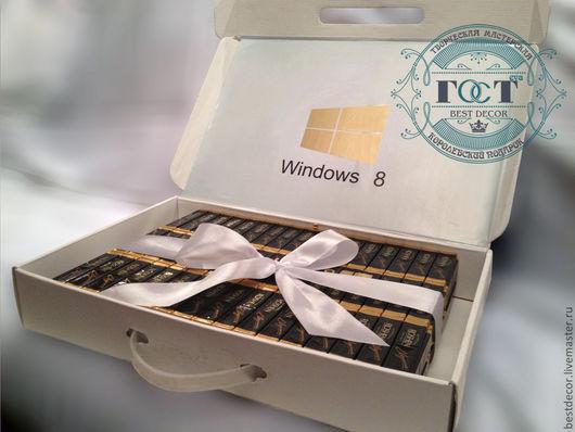 Персональные подарки ручной работы. Ярмарка Мастеров - ручная работа. Купить Chocobook (ноутбук из шоколада и конфет). Handmade. Ноутбук
