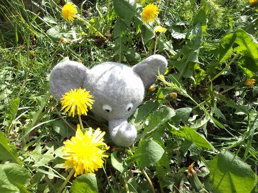 Игрушки животные, ручной работы. Ярмарка Мастеров - ручная работа. Купить игрушка валянная слоник Слоня. Handmade. Серый