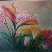Картины и панно ручной работы. Ярмарка Мастеров - ручная работа картина Лилии. Handmade.
