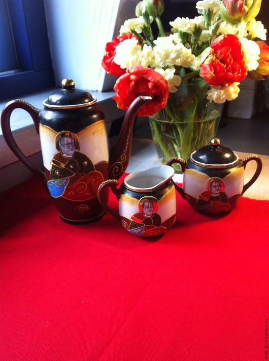 """Винтажная посуда. Ярмарка Мастеров - ручная работа. Купить Чайный сет """"Самураи"""", Hiroma, ручная работа (Япония). Handmade."""