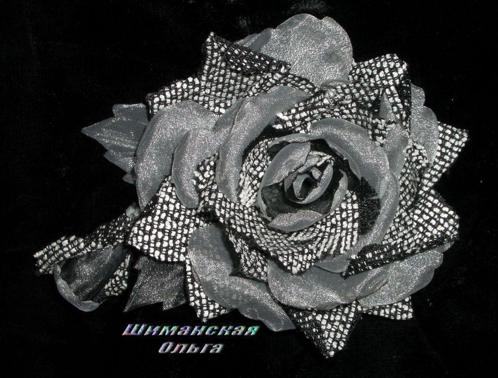 Ярмарка мастеров цветы из ткани мастер класс + видео #13