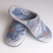 Slippers handmade. Livemaster - original item Felted Slippers for men. Handmade.
