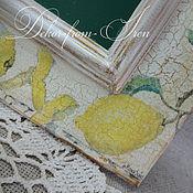"""Для дома и интерьера ручной работы. Ярмарка Мастеров - ручная работа доска грифельная """"Лимоны"""". Handmade."""